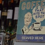 Vintage coffee sign at The Westbourne